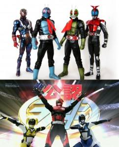 Kamen riders + Akibarangers